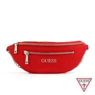 GUESS-女包-個性時尚鍊條腰包-紅
