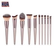 ทองคำแชมเปญ แปรงแต่งหน้า brush set เซต10ชิ้นแปรงปัดแก้มแปรงไฮไลท์แปลงแต่งหน้า Make up brush fancy (สีสวยมาก)(Makeup brush set)
