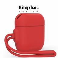【Kingxbar】Kingxbar AirPods 防水抗震保護套保護殼-草莓紅(AirPods 保護套)