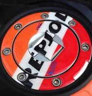 摩托車改裝 HONDA本田 HRC 力豹仕-REPSOL CBR300R CBR500R 3D立體油箱蓋貼 油箱蓋防護貼