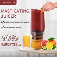 MOKKOM Masticating Juicer Rechargeable Blender Portable Slow Juicer Machine Juicer Extractor