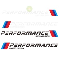 MUSWANNA 2pcs Car Stickers M Performance Limited Edition Side Door Reflective Decals