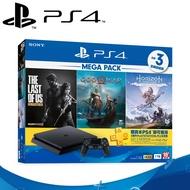 PS4主機1TB MEGA PACK同捆(戰神、地平線:期待黎明完全版、最後生還者) 極致黑
