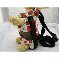 草莓 寵物前背袋 狗用品 外出袋 寵物用品 寵物前背