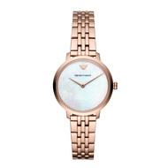 EMPORIO ARMANI 亞曼尼AR11158  極簡交織螺旋紋面盤女錶/白面32mm