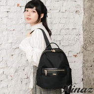 【KINAZ】大容量防潑水手提後背包-極致深黑-輕甜漫遊系列