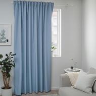 ikea BENGTA 遮光窗簾 1件裝, 藍色  完全遮光窗簾 210x高250