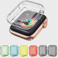 New Shockproof Fingerprint-proof TPU Full Protective Case Cover for i Watch Series 4 Screen Film 40mm/44mm For Apple Watch