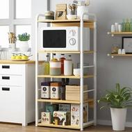 廚房五層落地置物架 烤箱置物架 微波爐收納櫃 五層收納架 【YV9852】快樂生活網