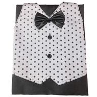 《兩口》504圓點背心式圍裙 工作圍裙 圍裙