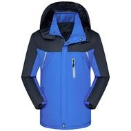 ﹍✁✳2019新款冬季加絨加厚保暖工作服外套防風防水運動風衣男登山外套