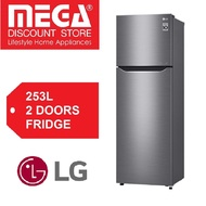 LG 253L 2-Door Fridge GR-B2757PZ Platinum Silver