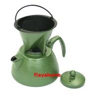 《富樂雅居》日本製 南部鐵器 岩鑄 本場盛岡 IWACHU 鑄鐵咖啡濾壺 ( 綠色 )