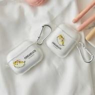 【黃阿瑪的後宮生活】黃阿瑪簡約透明AirPods 1/2 & Pro保護套-小花