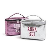 亮面漆皮 專櫃禮 ANNA SUI 安娜蘇 手提化妝箱 飾品收納箱 首飾箱 盥洗包 旅行整理收納箱(ABH23)