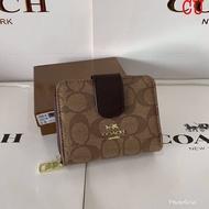 กระเป๋าสตางค์Coach ขนาด4.5นิ้ว ใบสั้น งานหนัง 2in1 ใส่แบงค์ใส่เหรียญ
