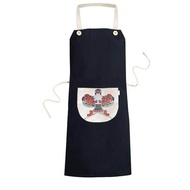 Traditional Chinese Culture Kite Pattern Cooking Kitchen Black Bib Aprons With Pocket for Women Men Chef Gifts - intl