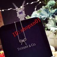 Tiffany&Co.金蝴蝶結項鏈
