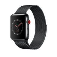 Apple-Apple Watch Series 3 GPS+Cellular (42mm Space Black Stainless Steel Case Space Black Milanese Loop) สมาร์ทวอทช์ Smart Watches & Fitness Trackers  Smart Electronics  Consumer Electronics