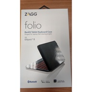 ZAGG Folio 輕便迷你鍵盤 Backlit Tablet Keyboard Ellipsis 8 藍芽無線鍵盤