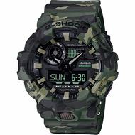 CASIO 卡西歐 G-SHOCK 迷彩雙顯手錶-軍綠 GA-700CM-3A