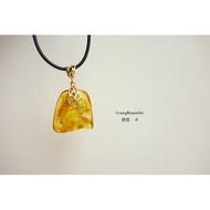 天然A貨-金黃色的魅力-琥珀-墜子手鍊-A