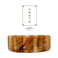 Tai Fu◆23.5mm紅銅鈦手排|水晶|手排|紅銅鈦|髮晶|招財|避邪|天然水晶