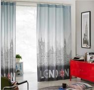 RC0006 寰宇歐洲風 130*240 CM 英國風大笨鐘造型滌棉客廳特色窗簾