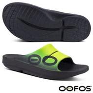 【美國 OOFOS】男 超人氣_超輕人體工學舒壓健康拖鞋(運動按摩型氣墊鞋)_ M1500 黑/黃/綠