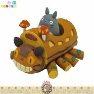 宮崎駿 龍貓 貓公車 貓巴士 香菇 TOTORO 手工製 迴力車 玩具 公仔擺飾 模型  日本進口正版  376499