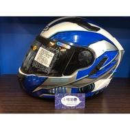 「展示品出清」ZEUS ZS-813 白藍 全罩式安全帽