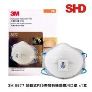3M 8577 頭戴式P95含活性碳口罩(1盒)