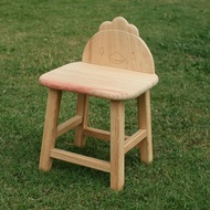 【MU LIFE 荒木雕塑藝品】可愛動物無垢檜木兒童椅(小雞)