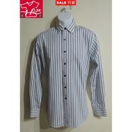 本周特價-美國 Manhattan 長袖襯衫 美好挺 CVC抗皺 條紋款-男款-15半【JK嚴選】太陽的後裔