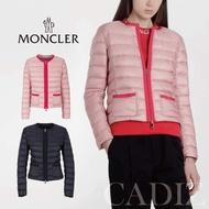 義大利正品 Moncler CRISTALLETTE PADDED JACKET 粉色藍色中性率性輕量羽絨外套