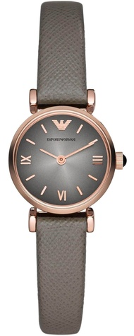 Emporio_ Armani_ Women Gold Pleated Leather Strap Watch AR1727
