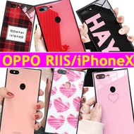 HOT Square Tempered Glass case cover for OPPO R11S OPPO R11S Plus OPPO R15 R9S R9 iPhone X 8 7 6