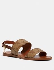 Coach 女生平底涼鞋Henny Sandal Logo款 $3580/雙💙