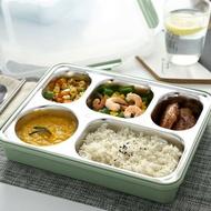 日式304不銹鋼保溫飯盒成人便當快餐盒大容量學生餐盤分格帶蓋《台北日光》