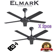"Elmark ceiling fan 52"" (2pcs) kipas super wind"