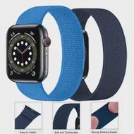 สายคล้องคอไนลอนสำหรับ Apple Watch Series SE 6 5 4 3ยืดหยุ่น Solo Loop Smartwatch สร้อยข้อมือ Correa Apple Watch Band 44มม.40มม.38มม.42มม.