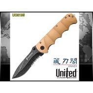 《藏刀閣》UNITED-(UC3195)USMC 沙漠勇士快開折刀