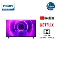 """Philips 4K UHD LED Android Smart TV with Dolby Vision and Dolby Atmos P5 Perfect Picture Engine in 50"""" / 55"""" PUT8215"""