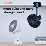 JISULIFE Portable Clip Fan Desk Table Baby Stroller Cot Crib USB Rechargeable Fans