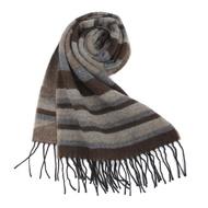 Vivienne Westwood 大骷髏橫條紋羊毛圍巾-咖啡色