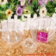 新品上市圣誕節透明圓球櫥窗掛飾球空心圓球圣誕裝飾球高透明裝飾品圓球