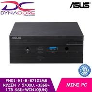 ASUS PN51-E1-B-B7121MB AMD Ryzen™ 7 5700U | BareBone Mini PC | Keyboard + mouse + 32GB + 1TB  SSD + WIN10 HOME (UN)