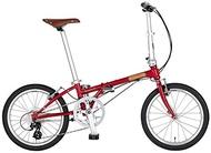 DAHON INTERNATIONAL (Dahon International) Boardwalk D8 (Boardwalk D8) folding bike 20 inches 2020 [exterior 8-speed steel frame] HAC052 M Red