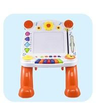 磁性彩色畫板兒童音樂電子琴寫字桌嬰兒玩具學習桌LX 居家