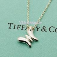 【LEO FASHION】二手正美品 Tiffany&Co. 蝴蝶造型項鍊